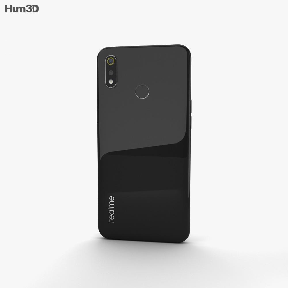 Realme 3 Black 3d model