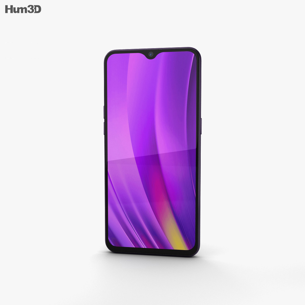 Realme 3 Pro Lightning Purple 3d model