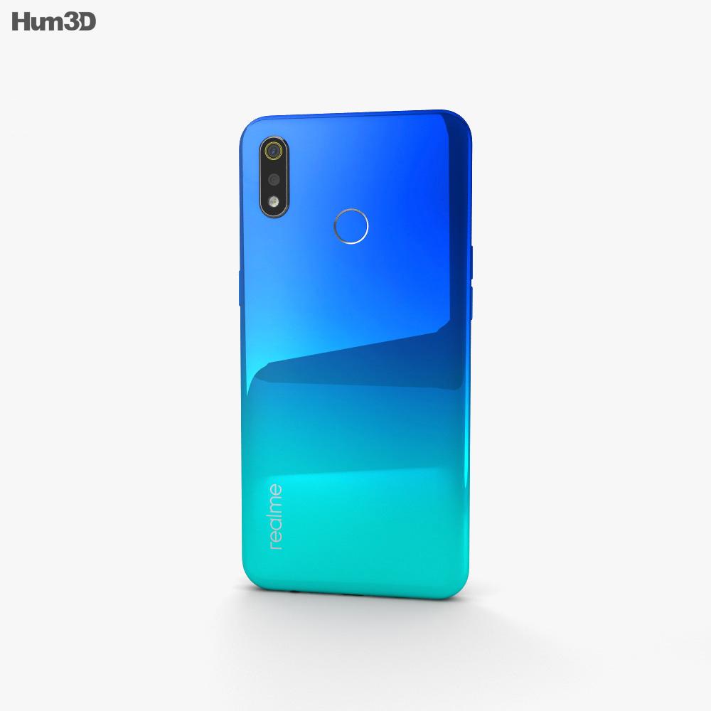 Realme 3 Radiant Blue 3d model