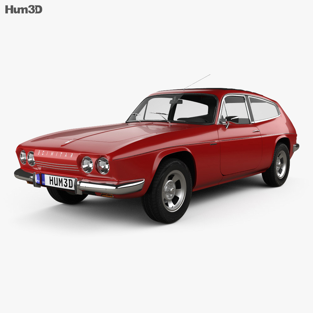Reliant Scimitar GTE 1970 3d model