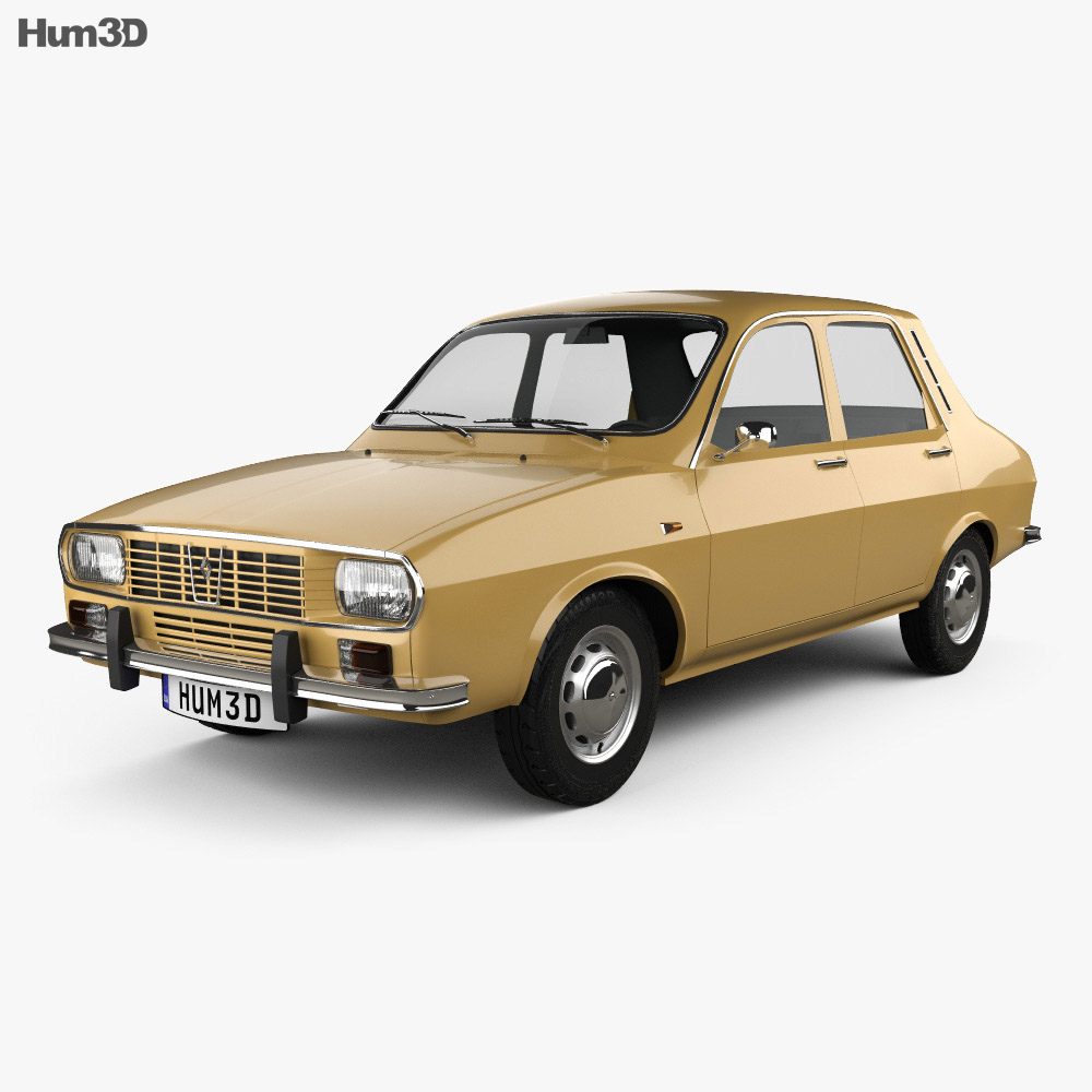 Discount Car Parts >> Renault 12 1969 3D model - Hum3D