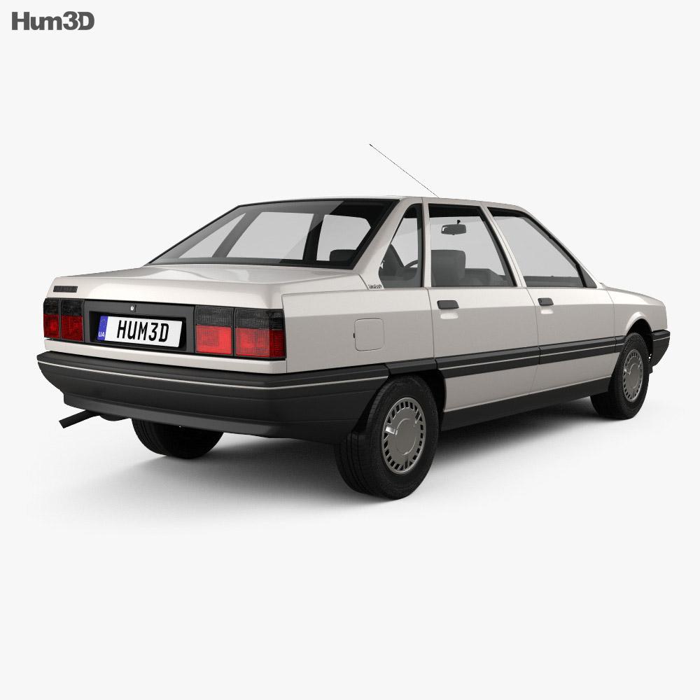 Renault 21 1986 3d model back view