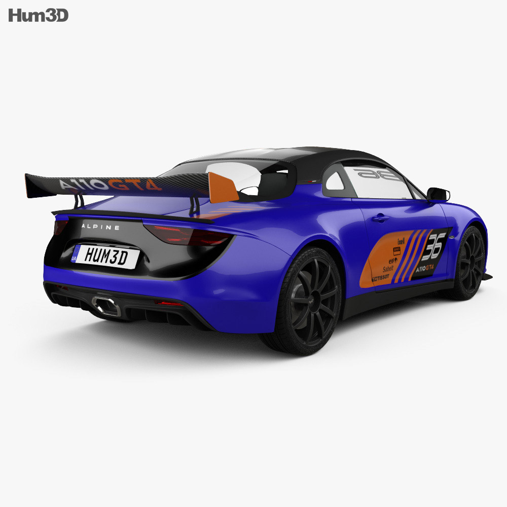 Renault Alpine A110 GT4 2017 3d model