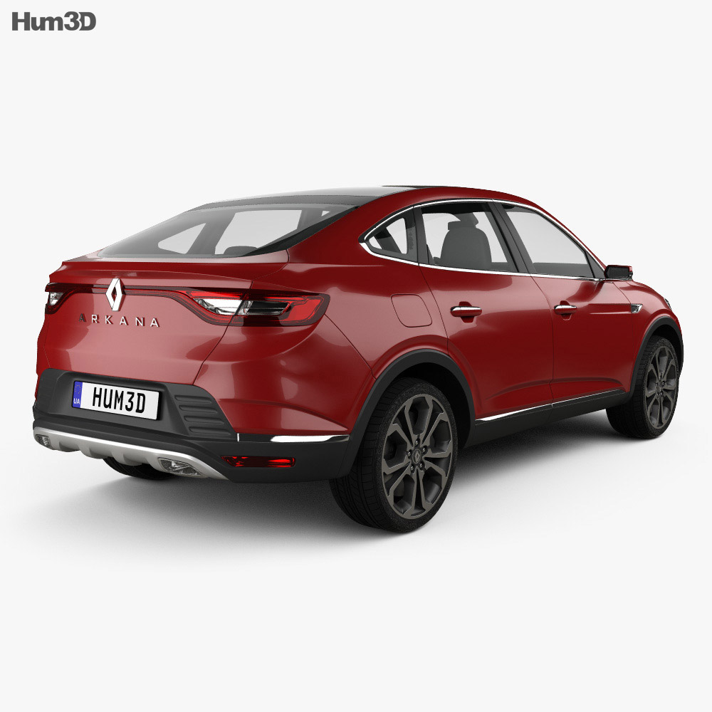 Renault Arkana 2018 3d model