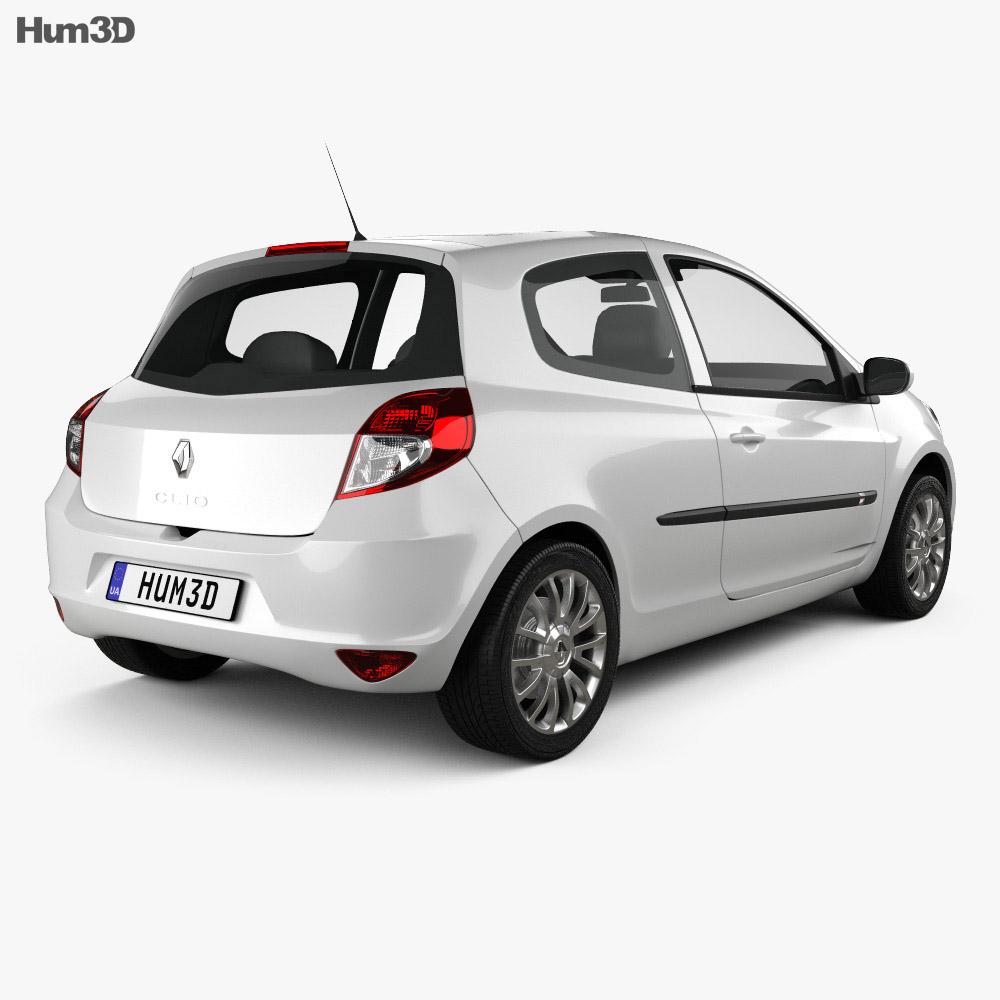 Renault Clio 3-door 2010 3d model