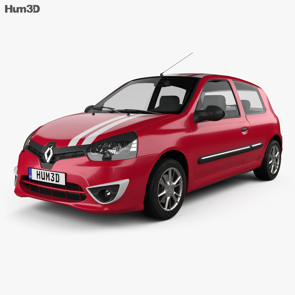 Renault Clio Mercosur Sport 3-door hatchback 2013 3d model
