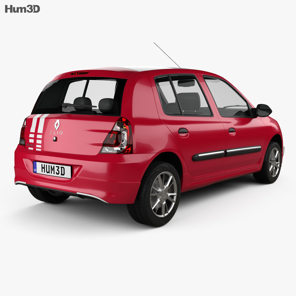 Renault Sport: Renault Clio Mercosur Sport 5-door Hatchback 2013 3D Model