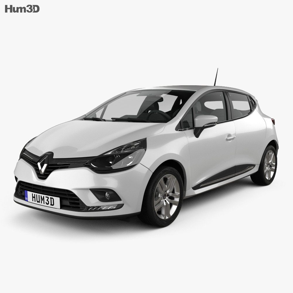 renault clio business 5 door hatchback 2016 3d model hum3d. Black Bedroom Furniture Sets. Home Design Ideas