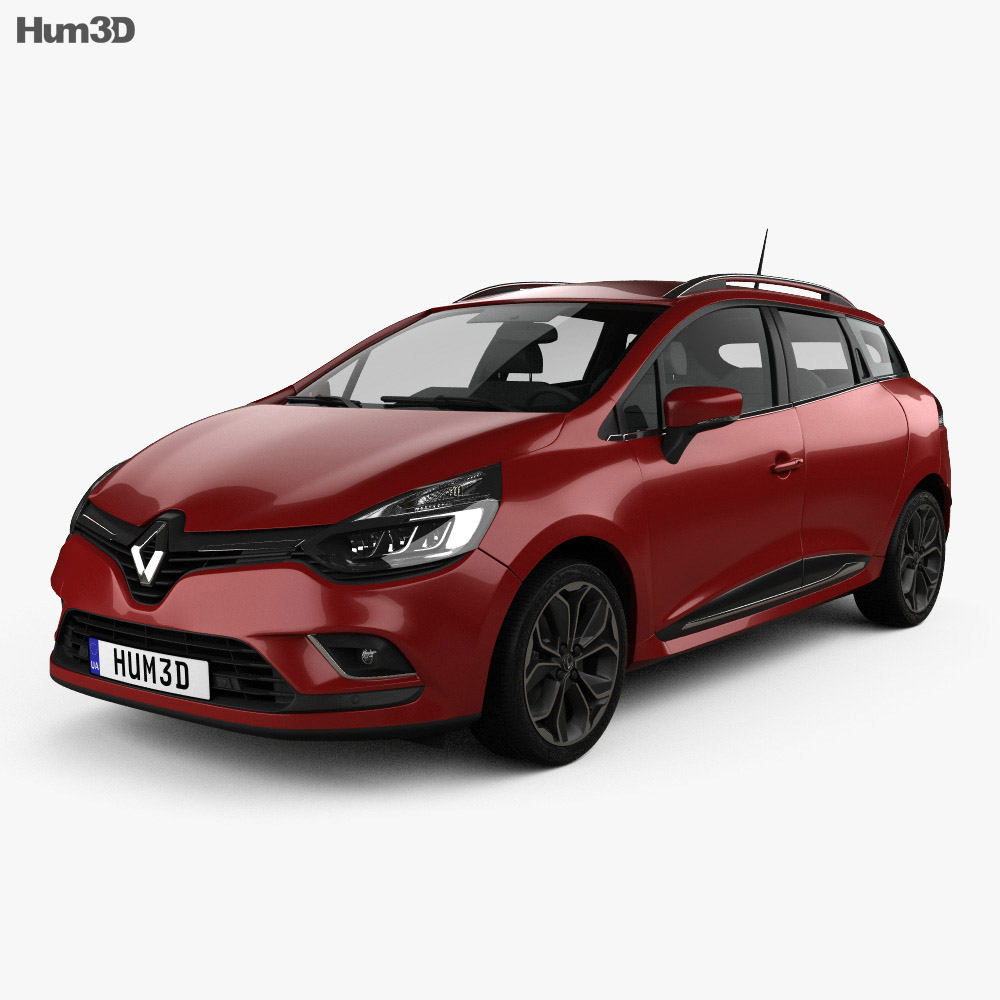 Renault Clio Signature Nav Estate 2016 3d model