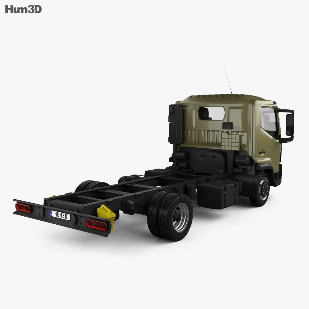 Renault D 7.5 Chassis Truck 2013 3d model back view