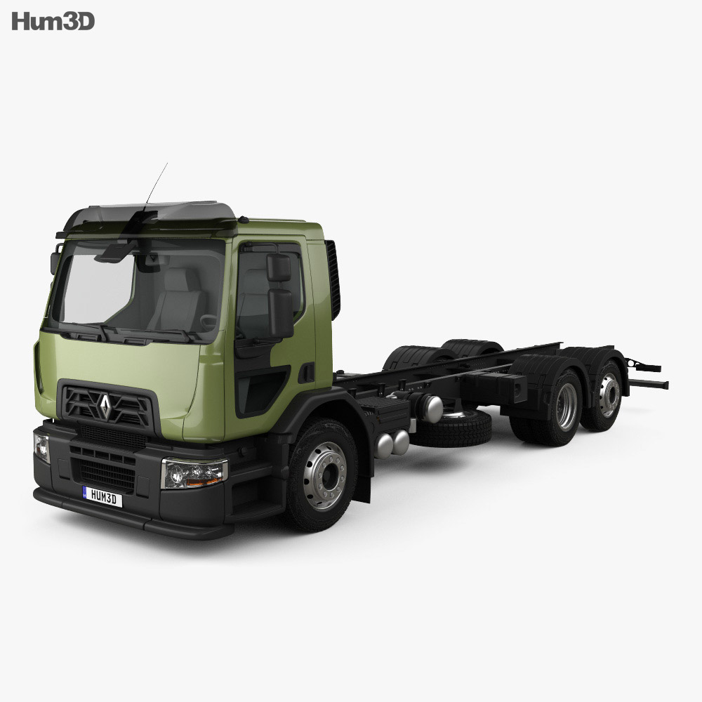 Renault D Wide Chassis Truck 2013 3d model