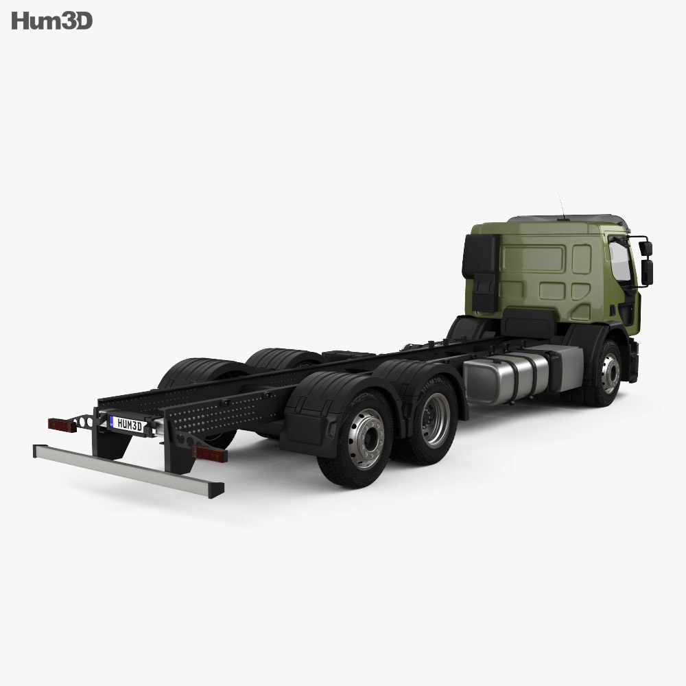 Renault D Wide Chassis Truck 2013 3d model back view