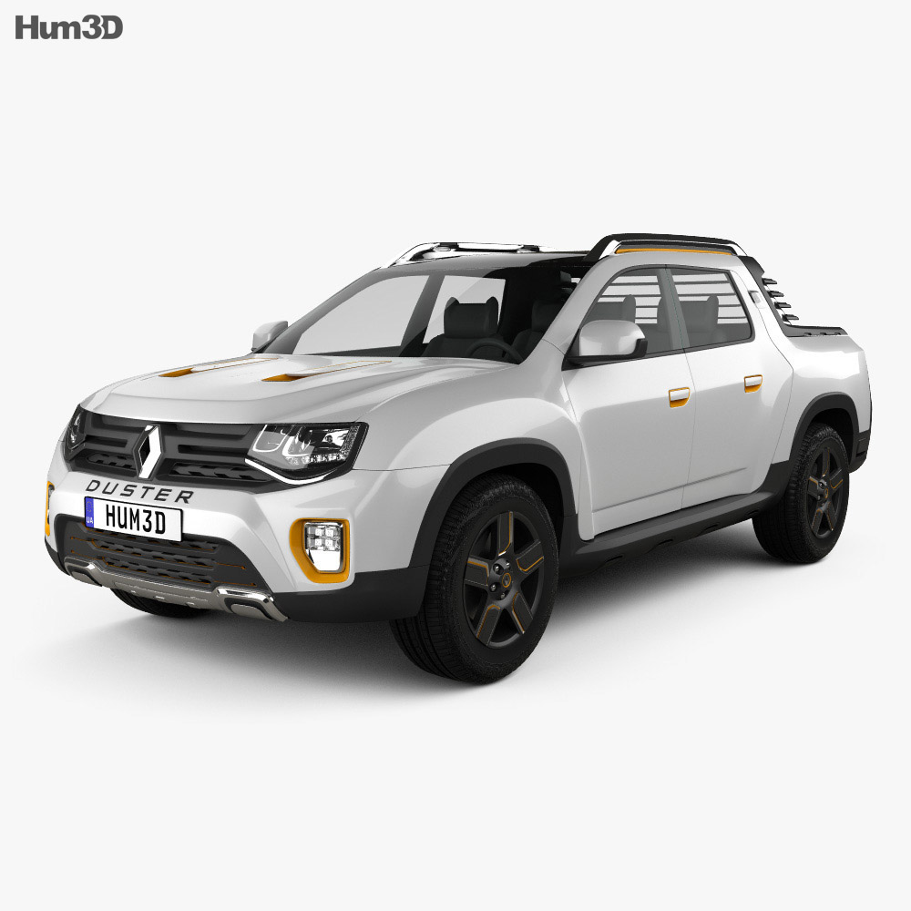 Renault Duster Oroch Concept 2015 3d model
