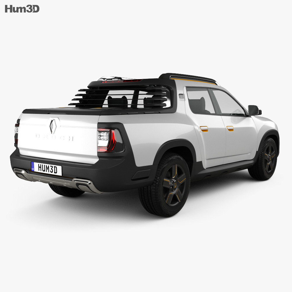 Renault Duster Oroch Concept 2015 3d Model Humster3d