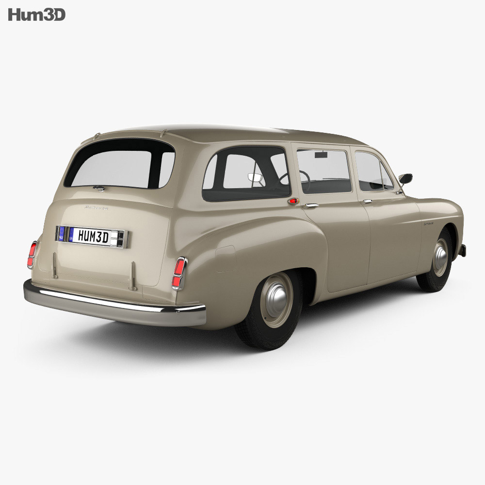 Renault Fregate wagon 1956 3d model