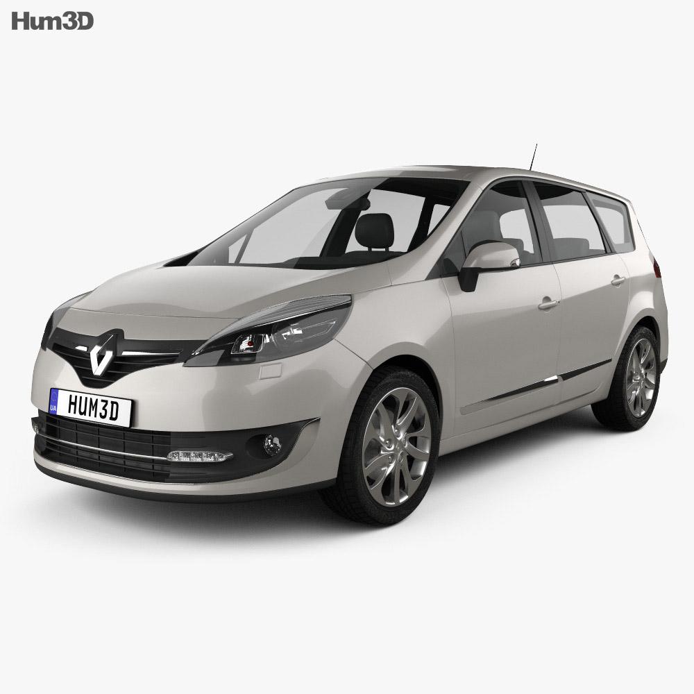 Renault Grand Scenic 2014 3d model