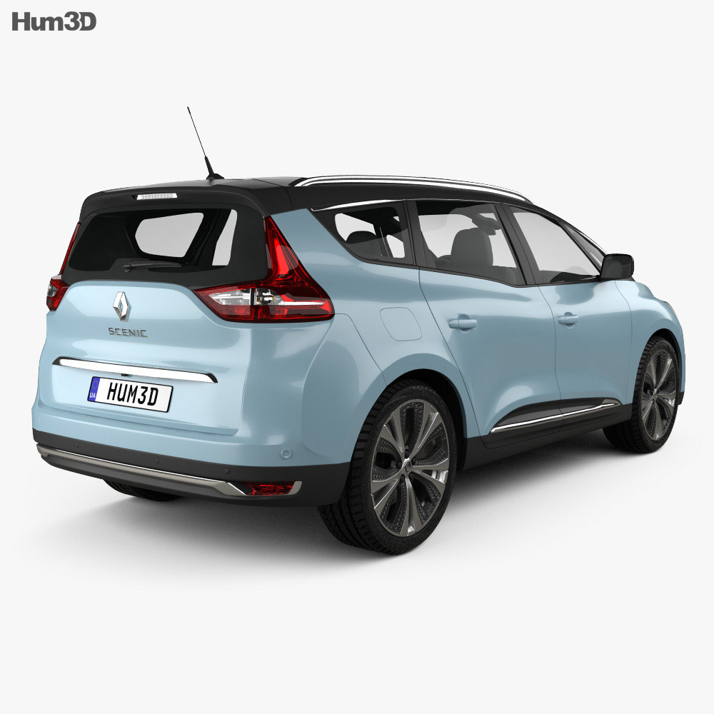 Renault Grand Scenic Dynamique S Nav 2017 3D Model