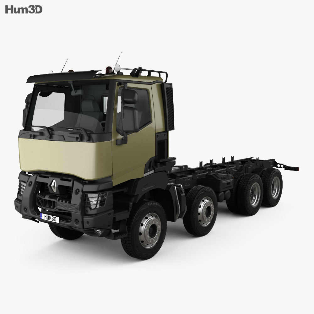 Renault K 430 Chassis Truck 2013 3d model
