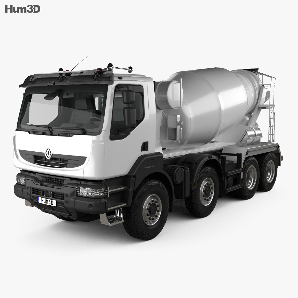 Renault Kerax Mixer 2011 3d model