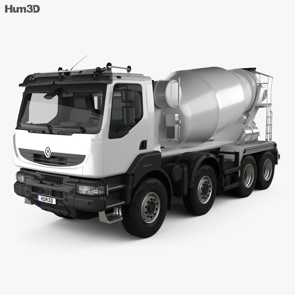 Renault Kerax Mixer Truck 2011 3d model