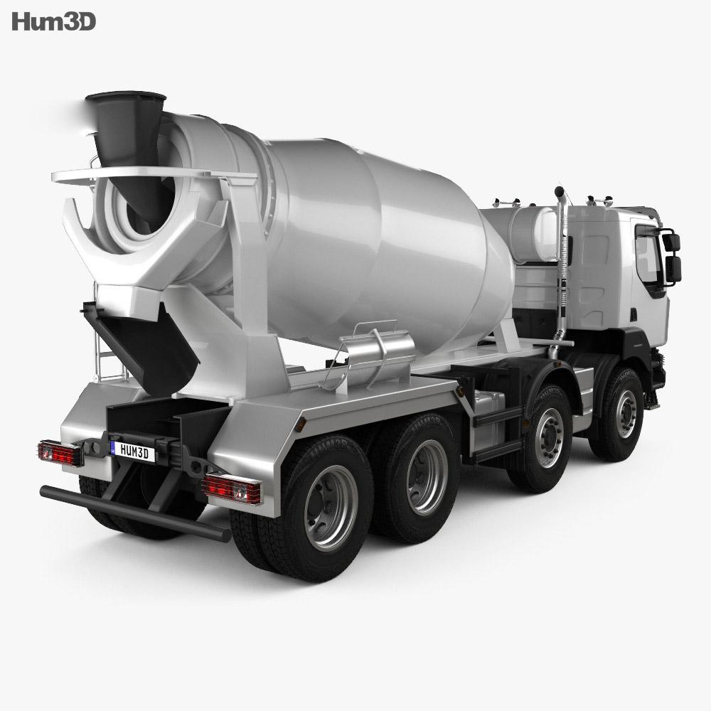 Renault Kerax Mixer Truck 2011 3d model back view