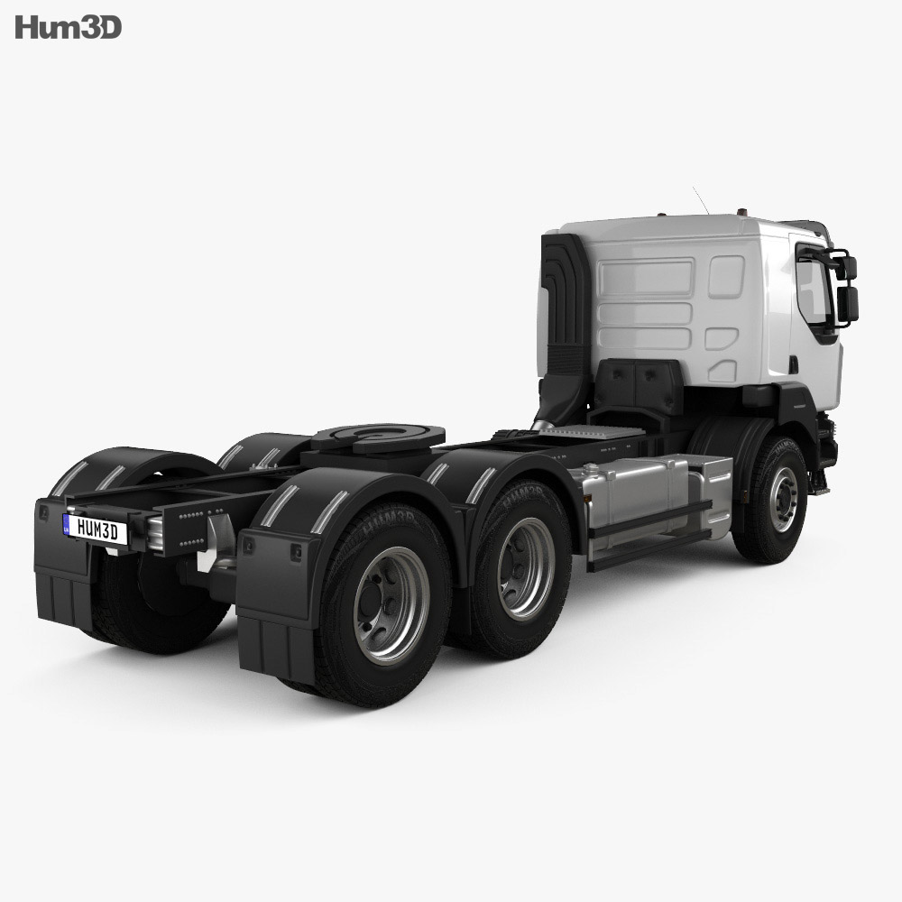 Renault Kerax Tractor Truck 2011 3d model back view