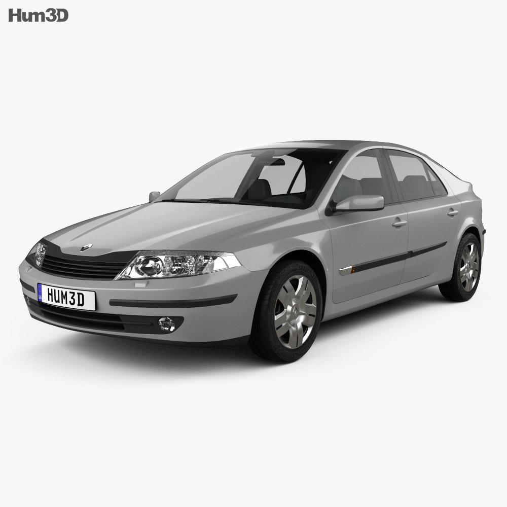 Renault Laguna liftback 2000 3d model