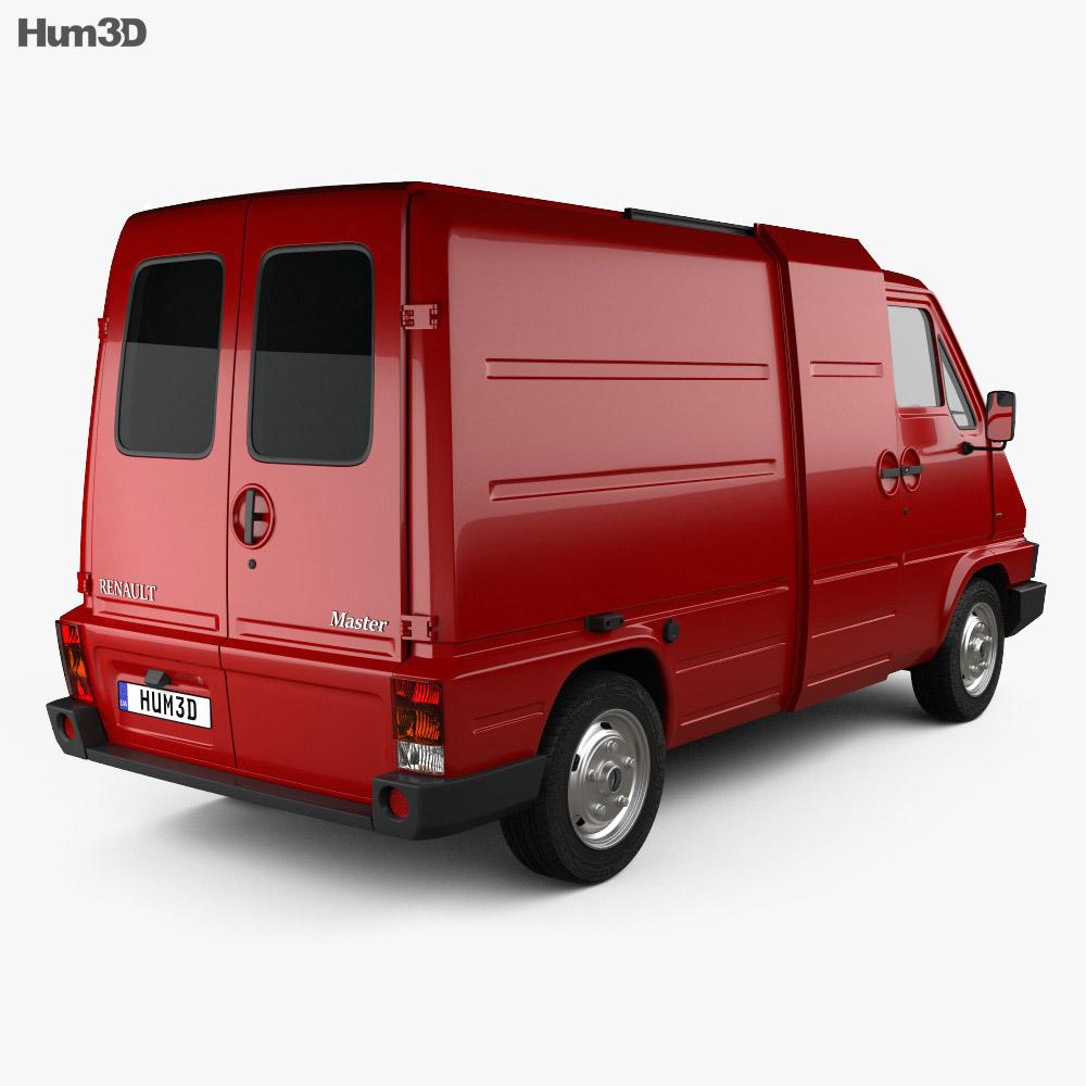 Renault Master Panel Van 1980 3d model
