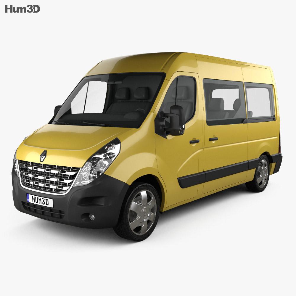 renault master passenger van 2010 3d model vehicles on hum3d. Black Bedroom Furniture Sets. Home Design Ideas