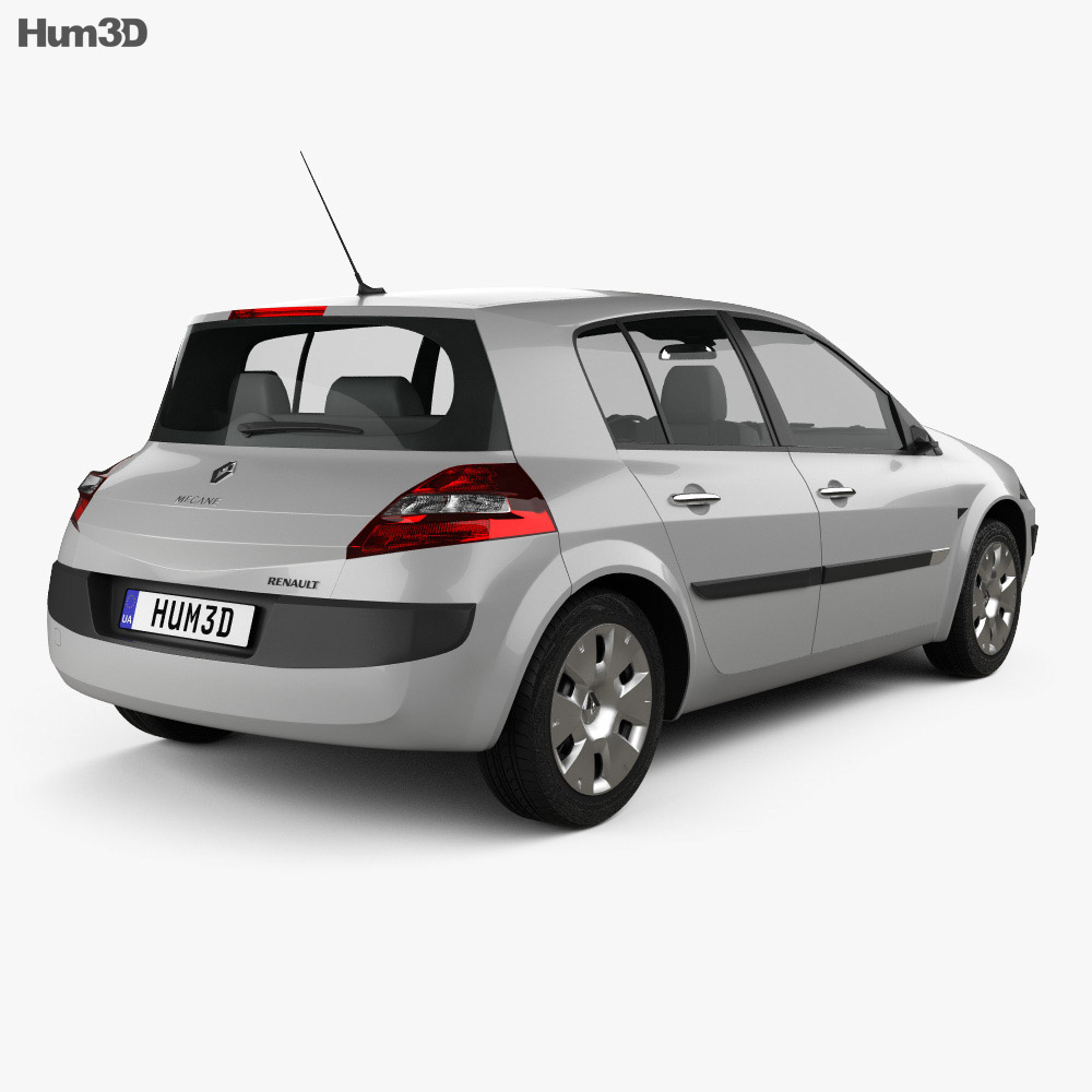 Renault Megane 5-door hatchback 2006 3d model
