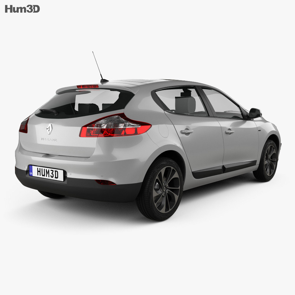 Renault Megane hatchback 2014 3d model