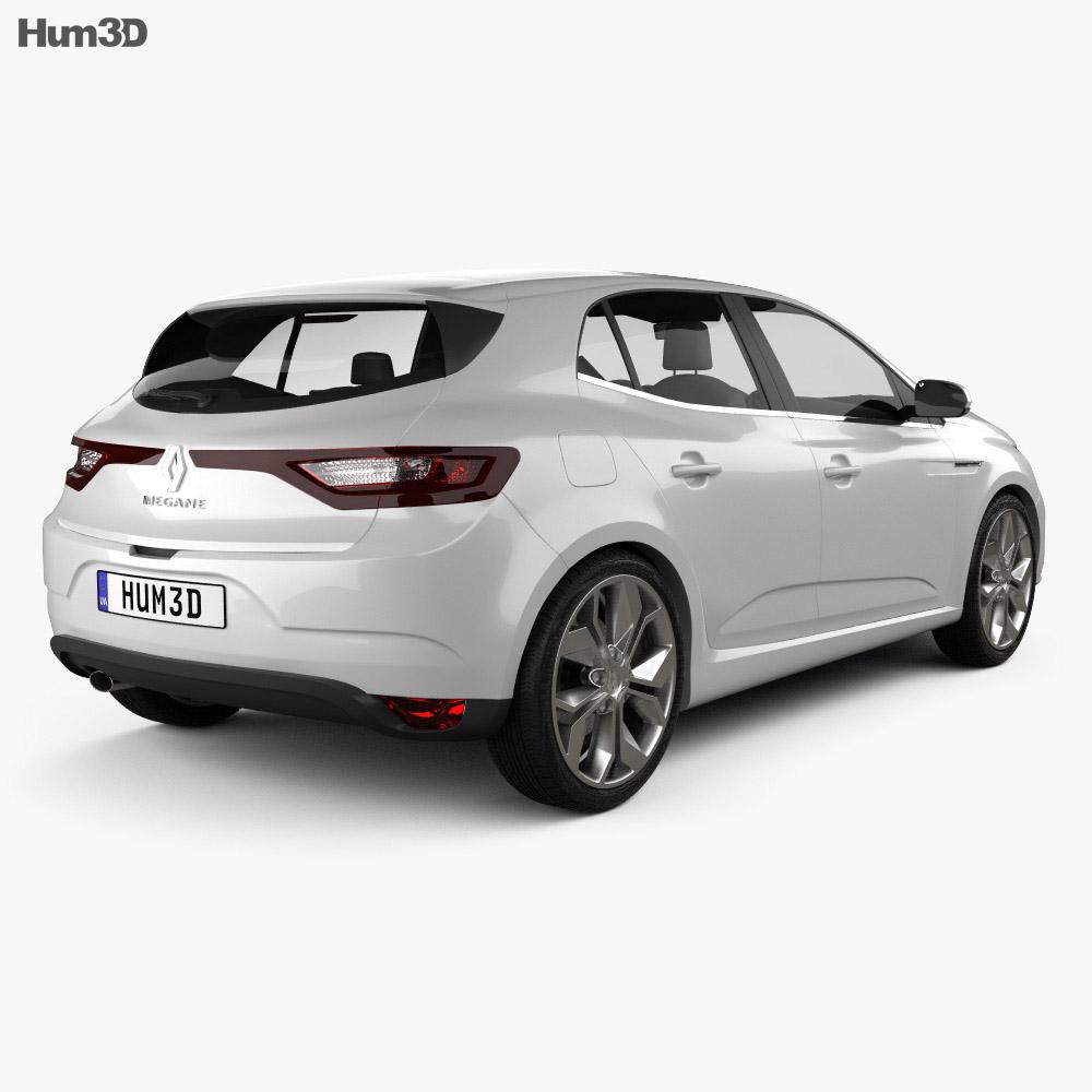 Renault Megane: Renault Megane Hatchback 2016 3D Model