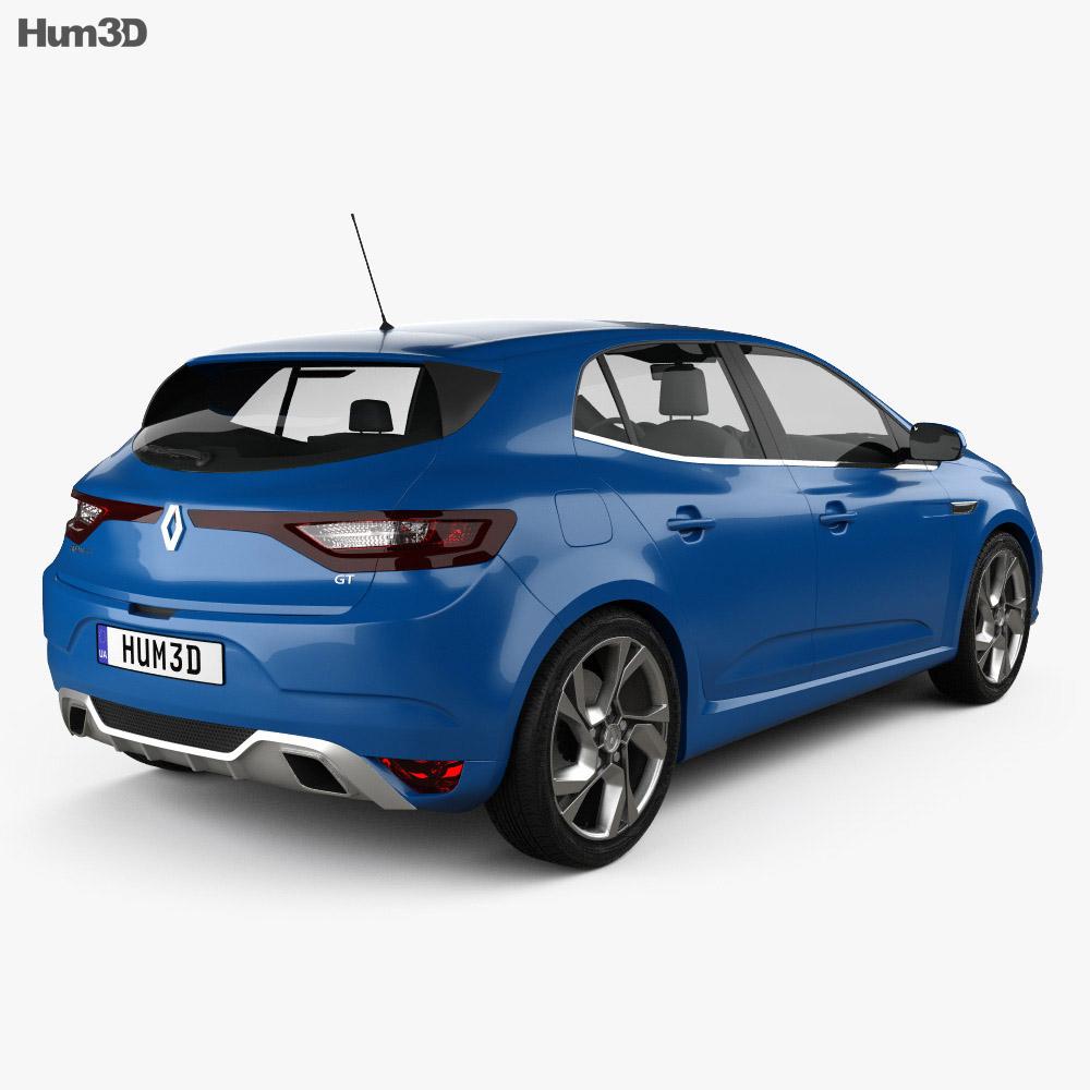 Renault Megane: Renault Megane GT 2016 3D Model