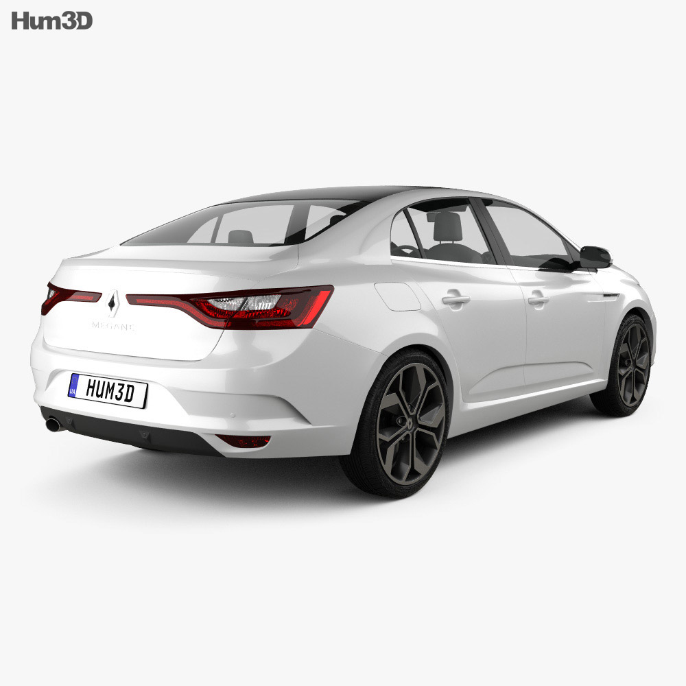 Renault Megane Coupe: Renault Megane Sedan 2016 3D Model