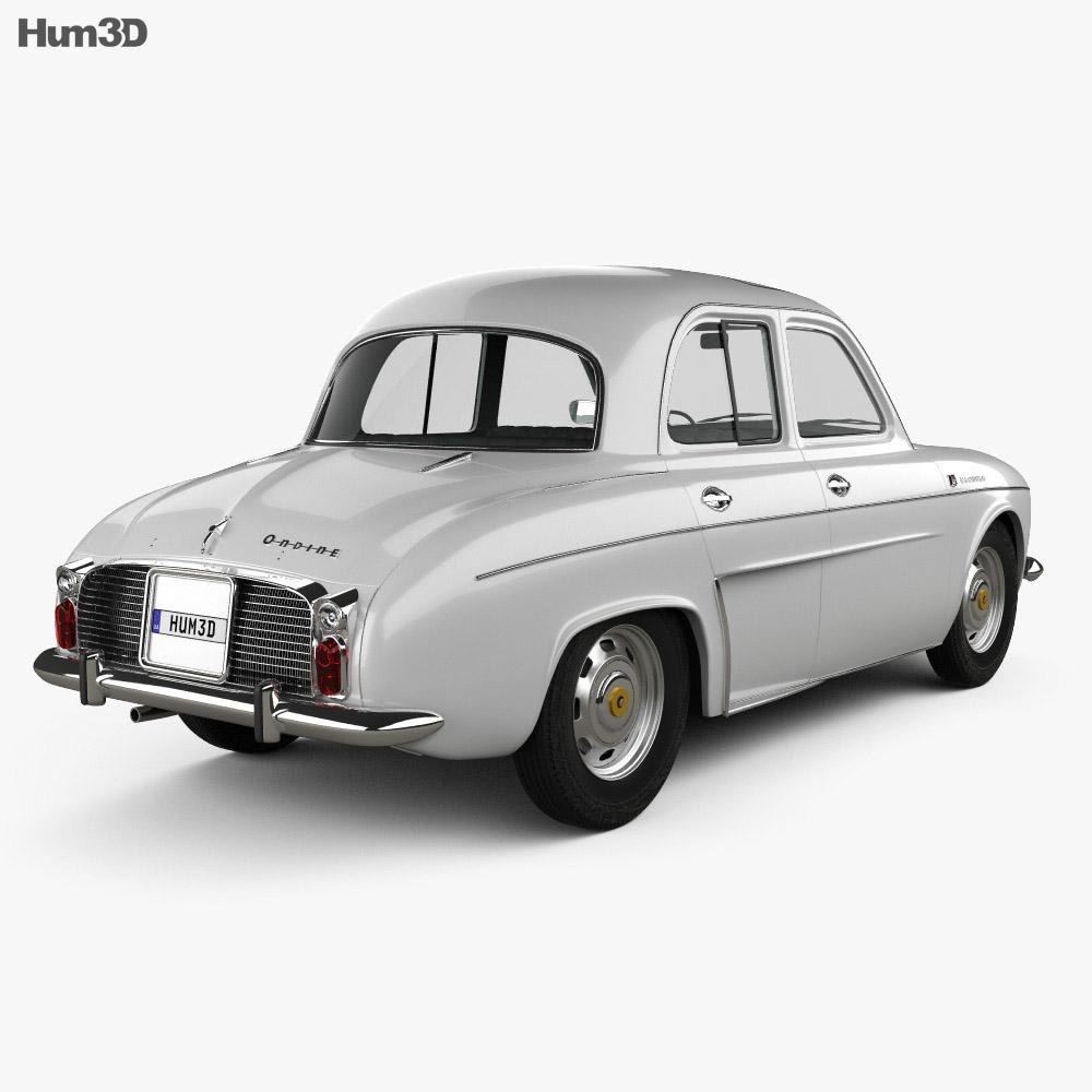 Renault Ondine (Dauphine) 1956-1967 3d model back view
