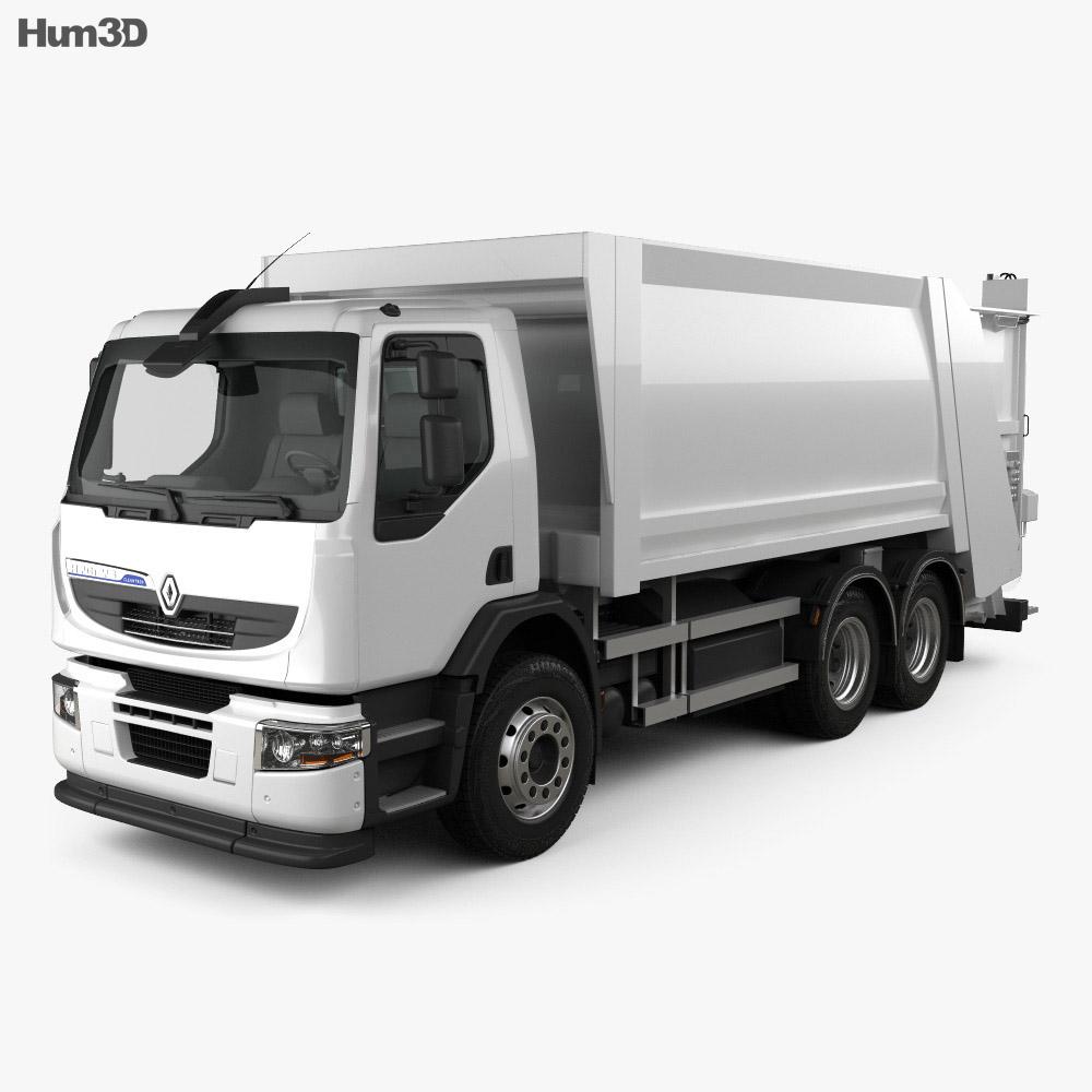 Renault Premium Distribution Hybrys Garbage Truck 2011 3d model