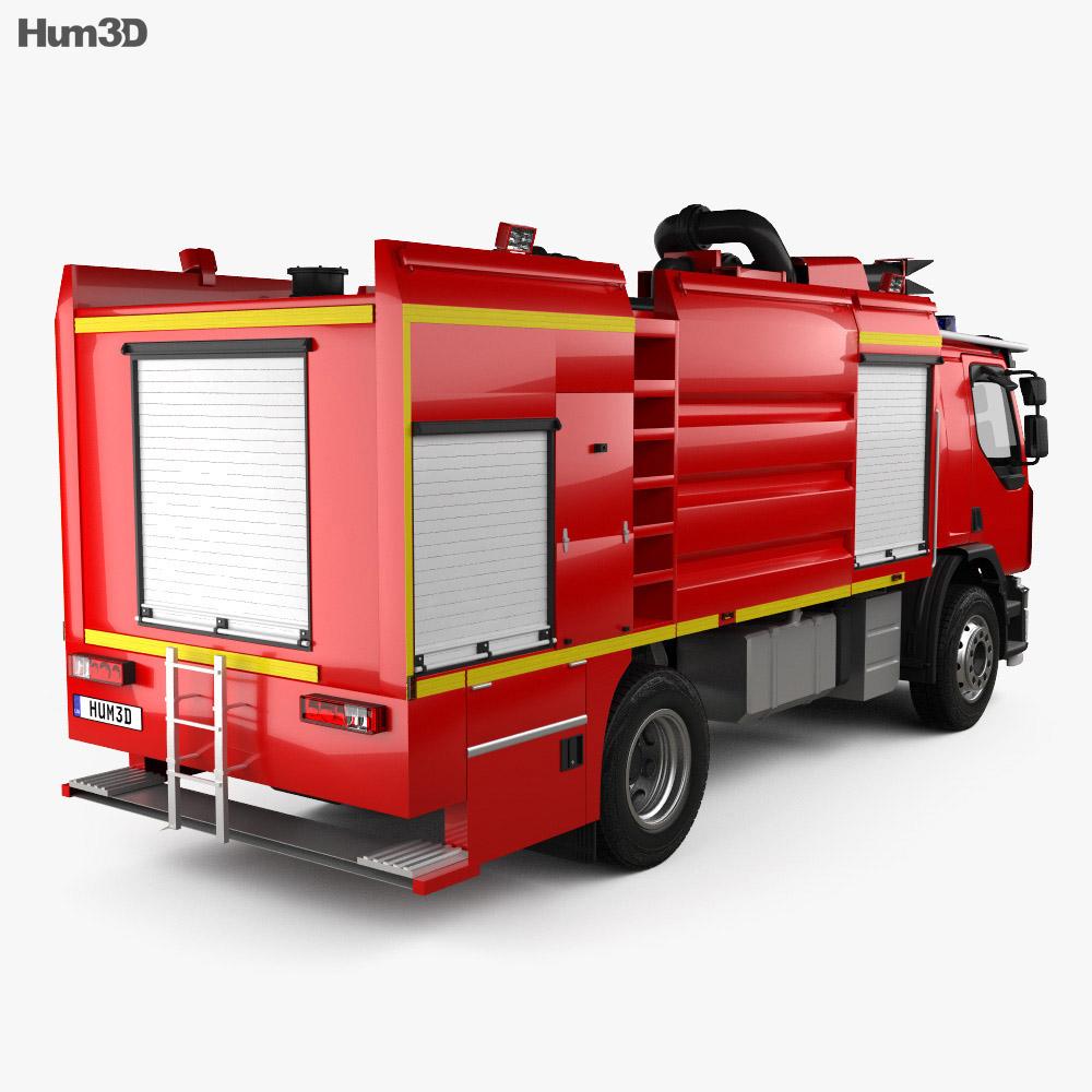 Renault Premium Lander Fire Truck 2011 3d model back view