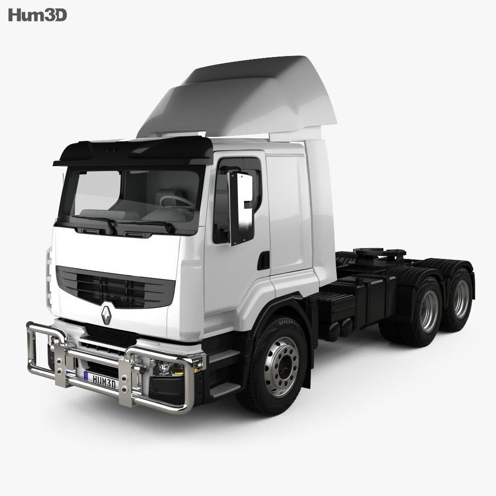 Renault Premium Lander Tractor Truck 3-axle 2006 3d model