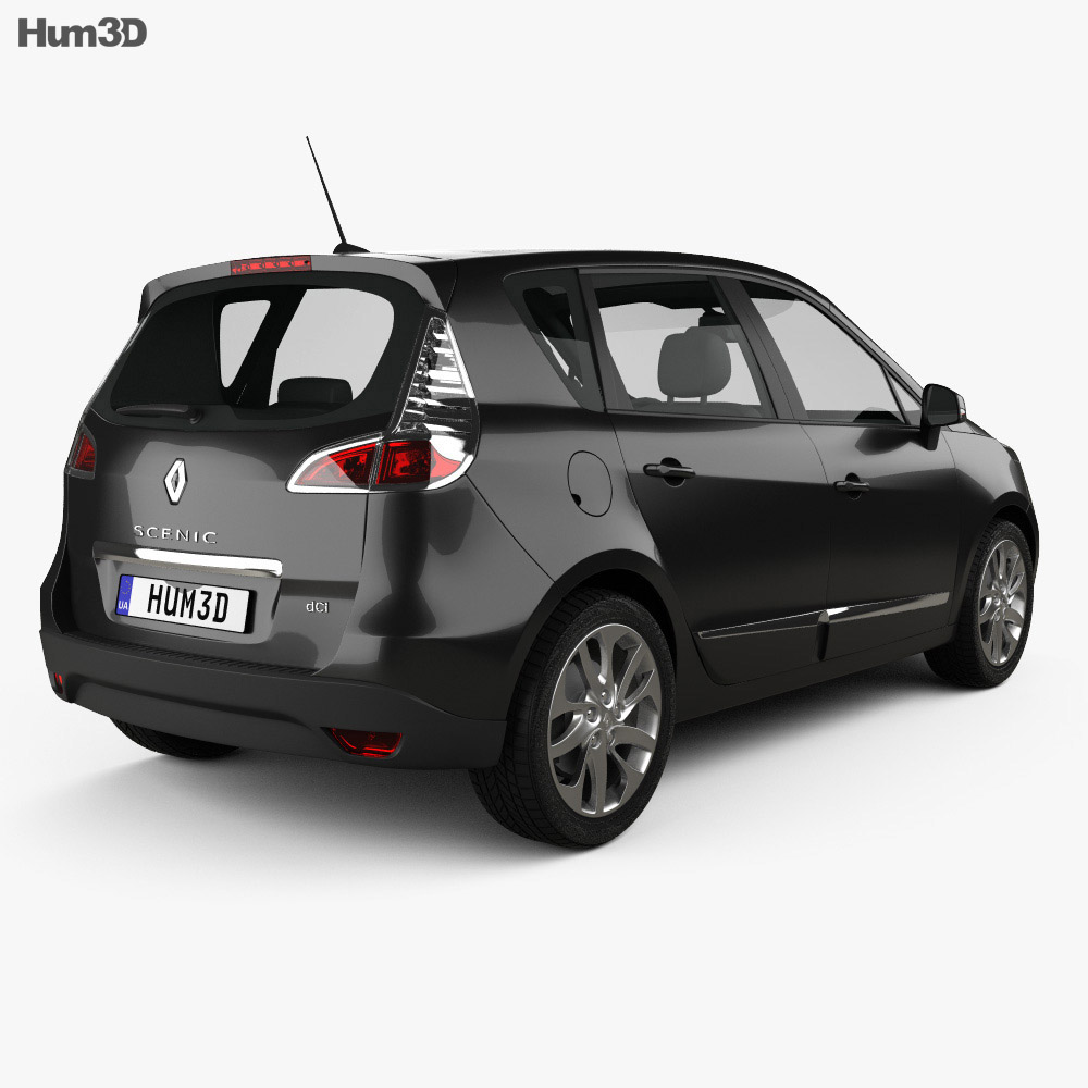 Renault Scenic 2013 3d model back view