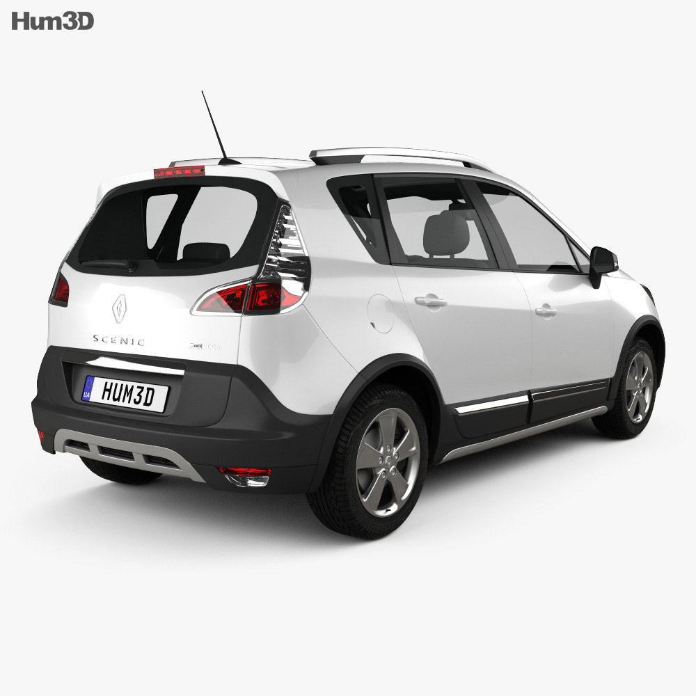 Renault Scenic XMOD 2013 3d model back view