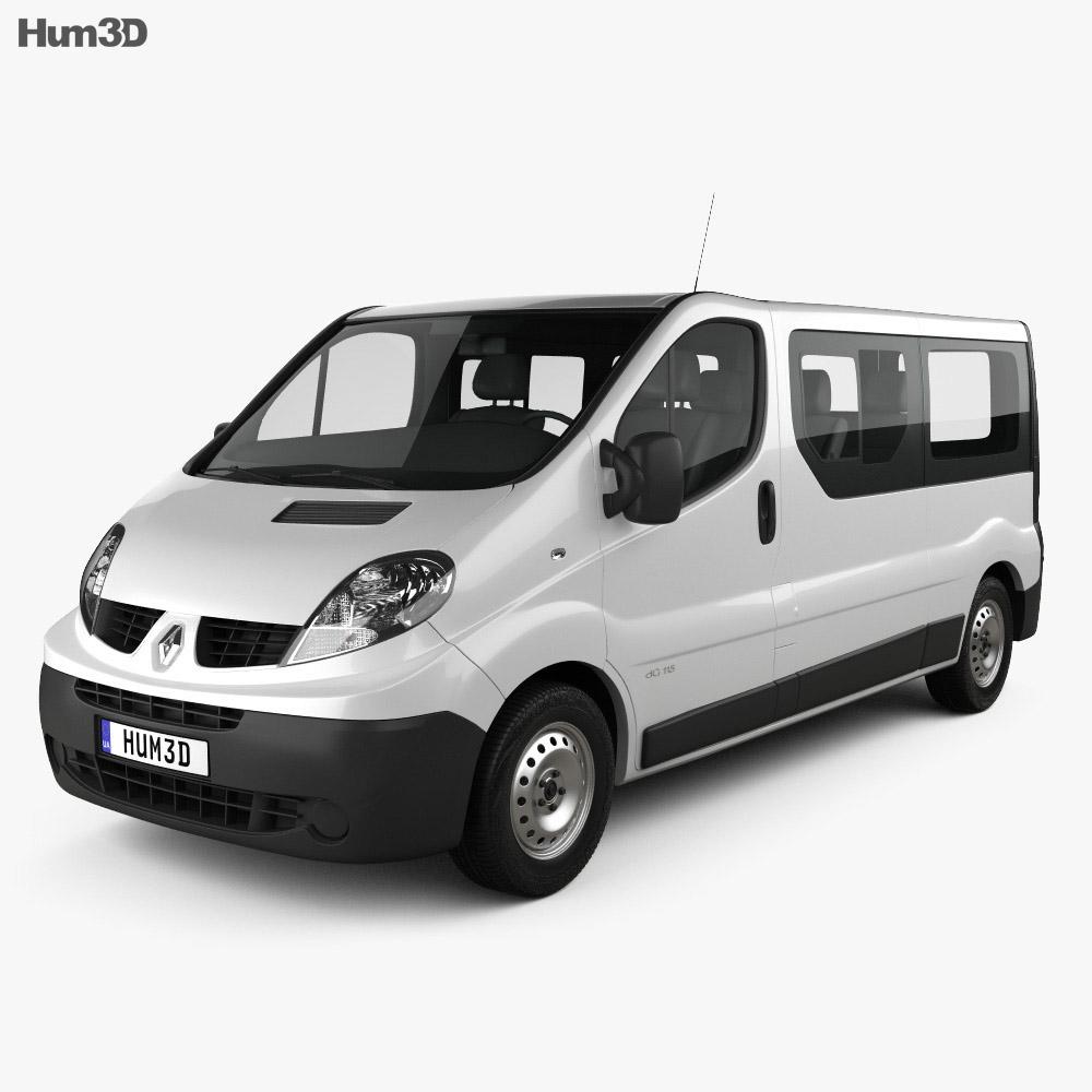 renault trafic passenger van lwb 2010 3d model vehicles. Black Bedroom Furniture Sets. Home Design Ideas