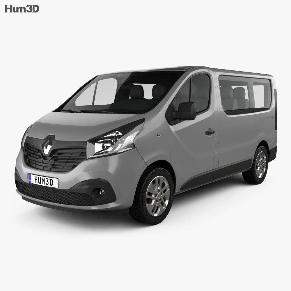 renault trafic passenger van 2014 3d model vehicles on hum3d. Black Bedroom Furniture Sets. Home Design Ideas