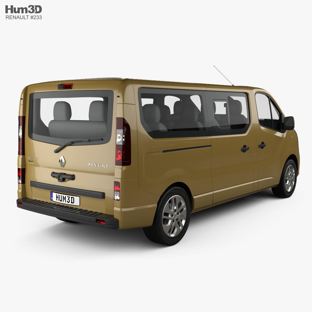 Renault Trafic Passenger Van LWB 2020 3d model