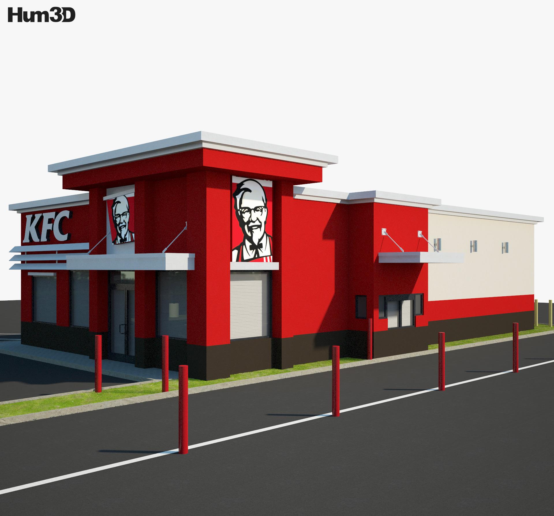 KFC Restaurant 03 3d model