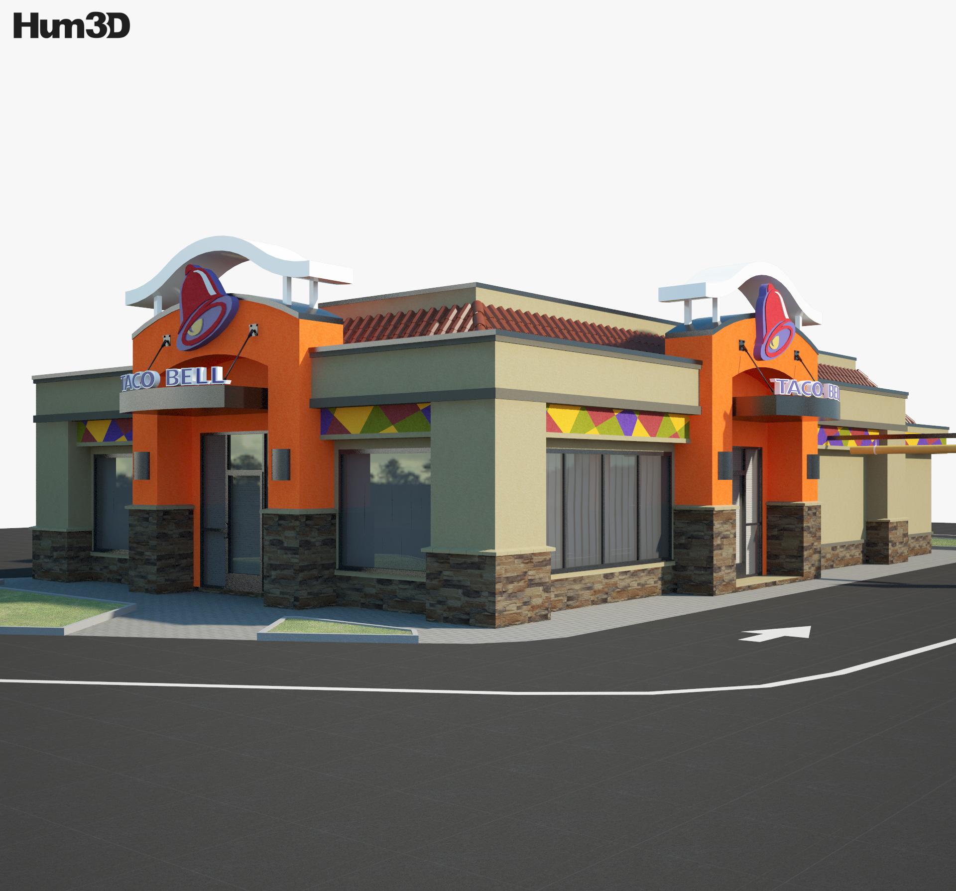 Taco Bell Restaurant 02 3d model