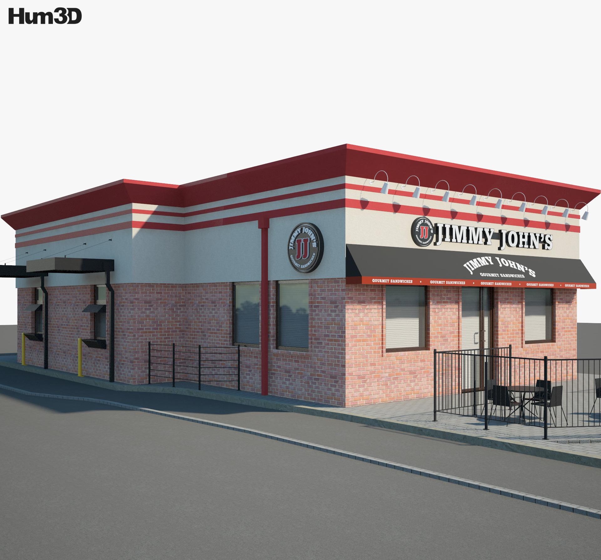Jimmy John's Restaurant 02 3d model
