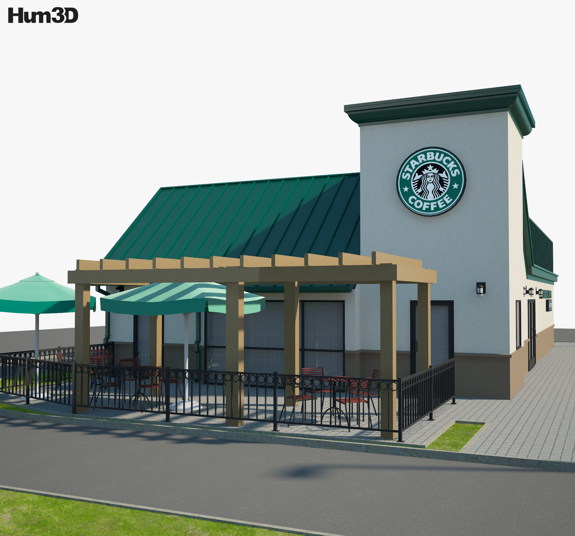 Starbucks Restaurant 03 3d model