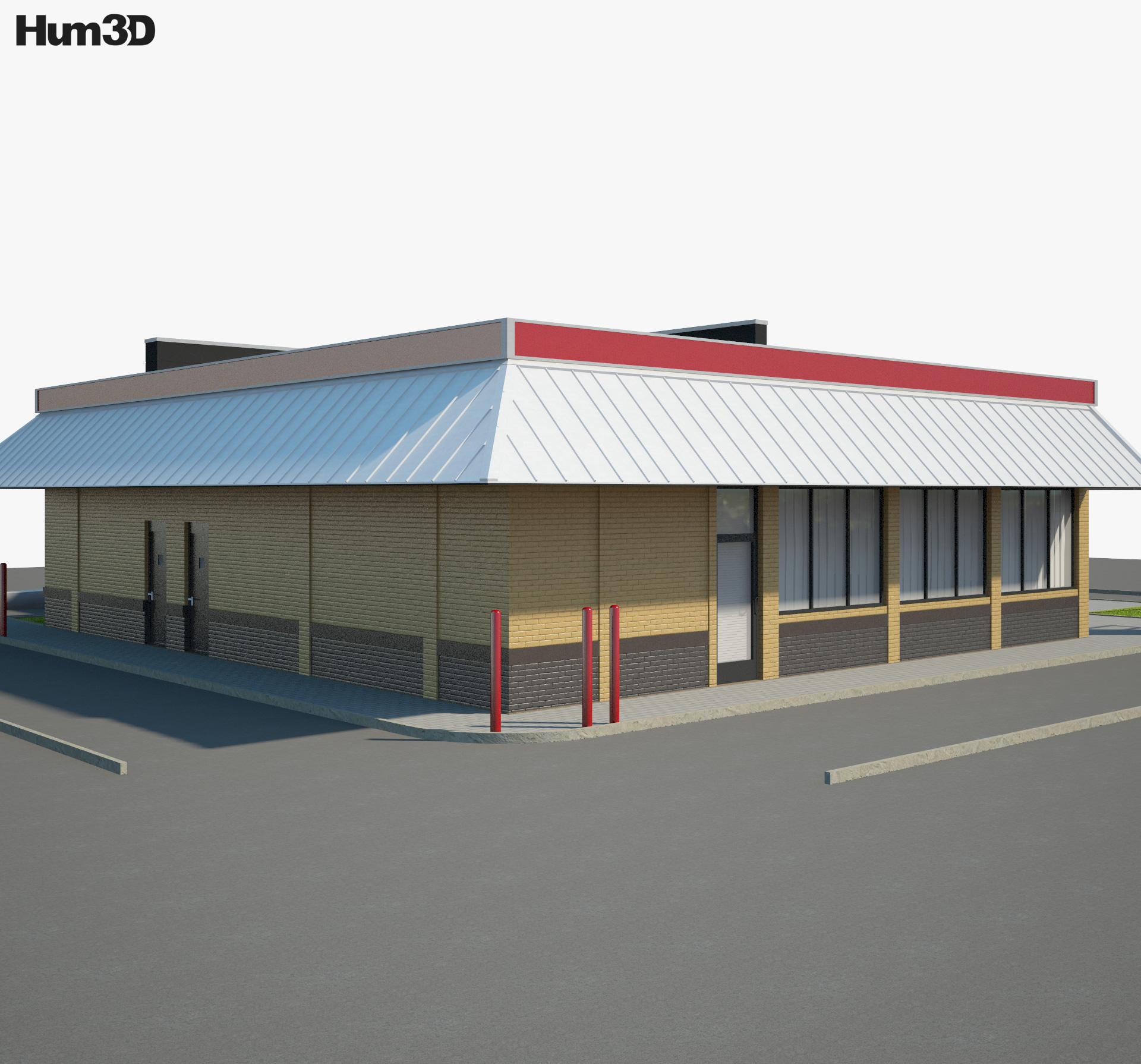 Burger King Restaurant 03 3d model