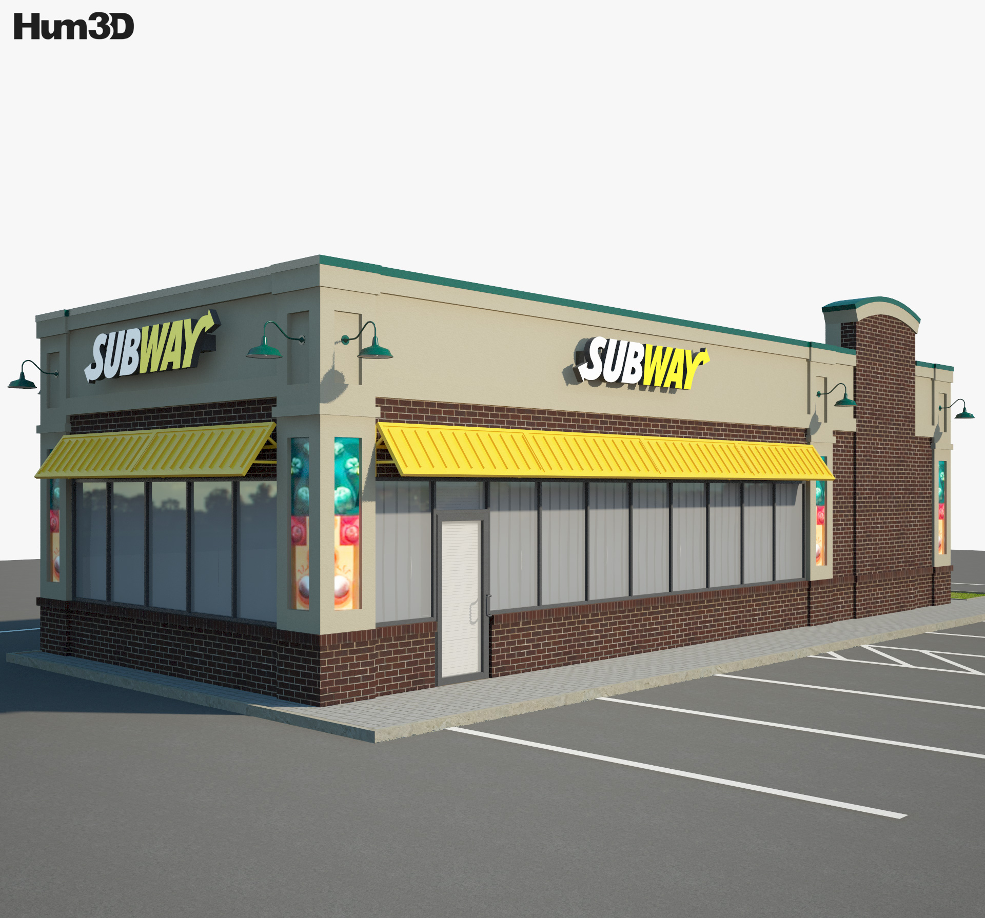 Subway Restaurant 02 3d model