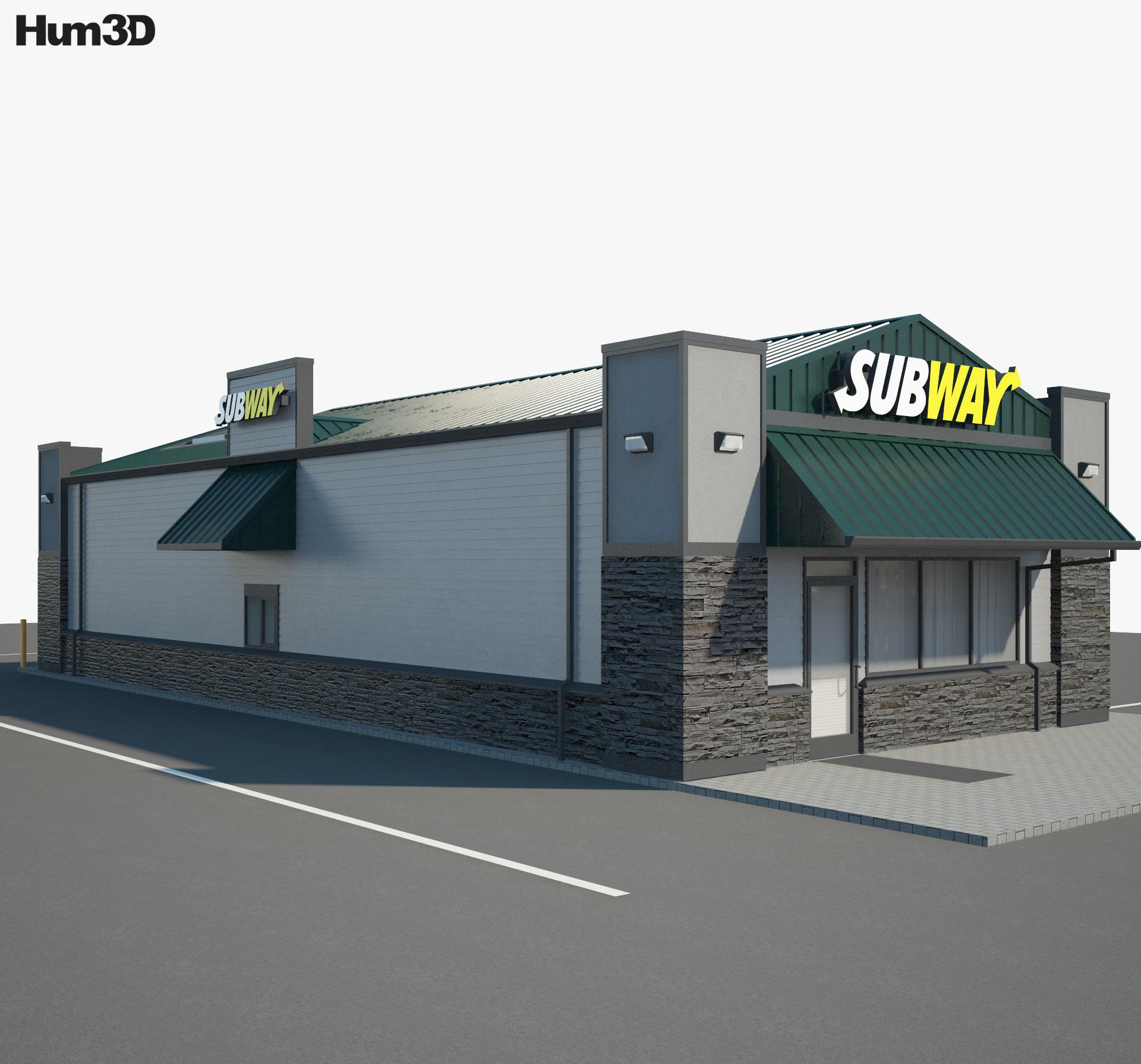 Subway Restaurant 03 3d model